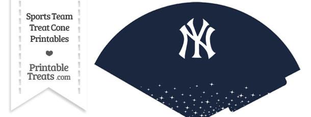 Yankees Treat Cone Printable