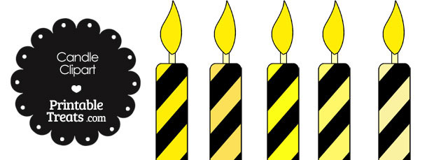 Yellow and Black Candle Clipart
