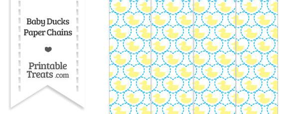 Yellow Baby Ducks Paper Chains
