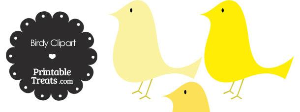 Yellow Birdy Clipart