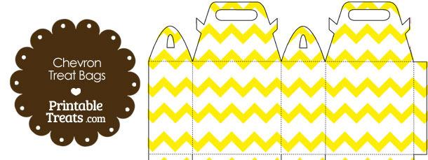 Yellow Chevron Treat Bags to Print