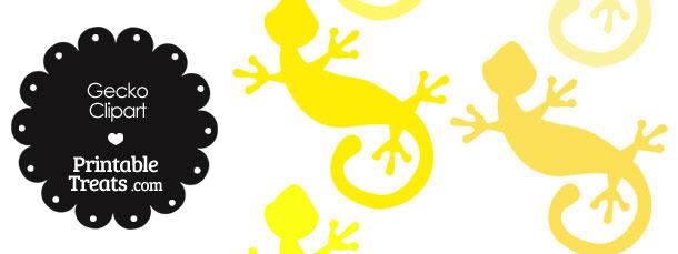 Yellow Gecko Clipart