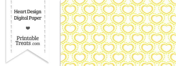 Yellow Heart Design Digital Scrapbook Paper