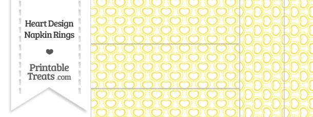 Yellow Heart Design Napkin Rings