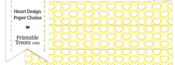 Yellow Heart Design Paper Chains