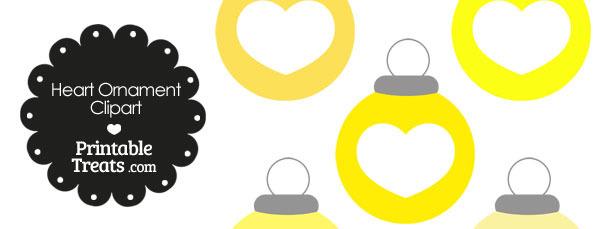 Yellow Heart Ornament Clipart