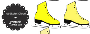 Yellow Ice Skates Clipart