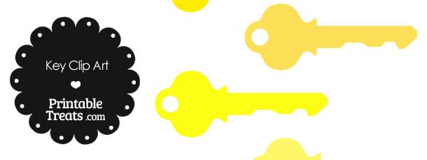 Yellow Key Clipart