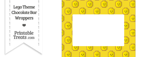 Yellow Lego Theme Chocolate Bar Wrappers
