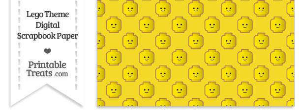 Yellow Lego Theme Digital Scrapbook Paper