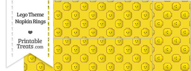 Yellow Lego Theme Napkin Rings