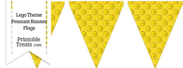 Yellow Lego Theme Pennant Banner Flag