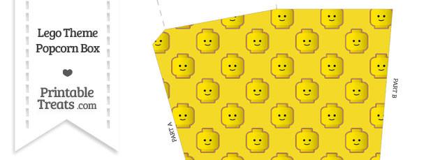 Yellow Lego Theme Popcorn Box