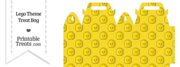 Yellow Lego Theme Treat Bag