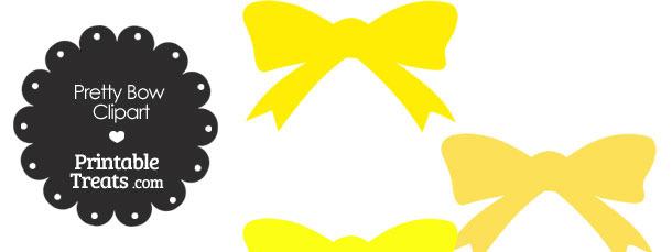 Yellow Pretty Bow Clipart