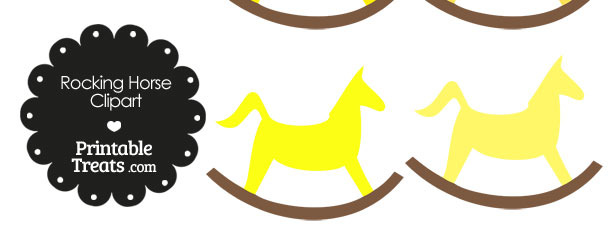 Yellow Rocking Horse Clipart