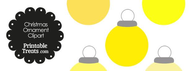 Yellow Round Ornament Clipart