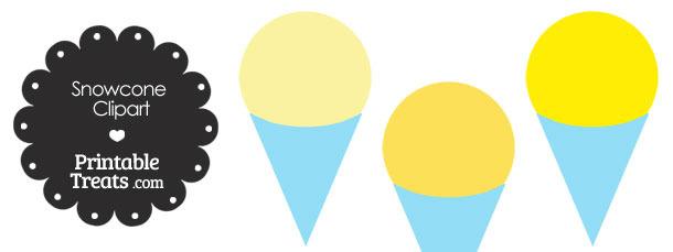 Yellow Snow Cone Clipart