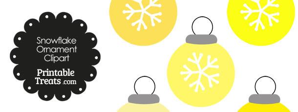 Yellow Snowflake Ornament Clipart