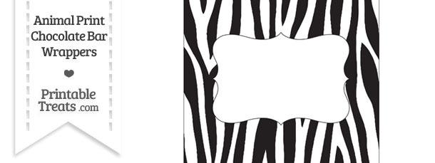 Zebra Print Chocolate Bar Wrappers