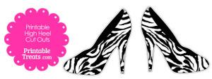 Zebra Print High Heel Cut Outs