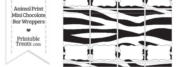 Zebra Print Mini Chocolate Bar Wrappers