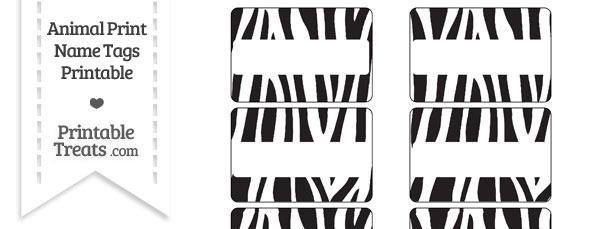 Zebra Print Name Tags