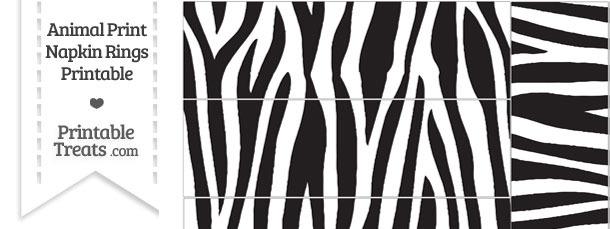 Zebra Print Napkin Rings