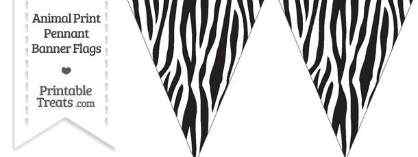 Zebra Print Pennant Banner Flag