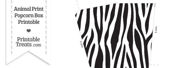 Zebra Print Popcorn Box