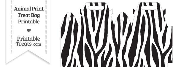 Zebra Print Treat Bag
