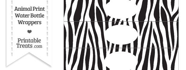 Zebra Print Water Bottle Wrappers