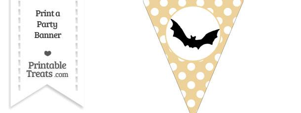 Pastel Bright Orange Polka Dot Pennant Flag with Bat Download