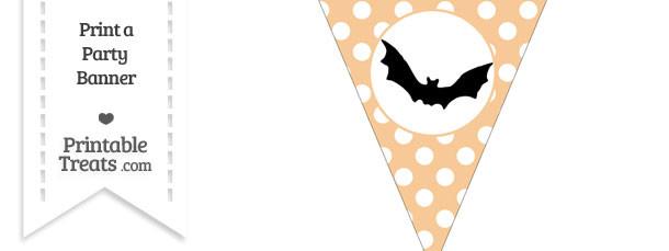 Pastel Light Orange Polka Dot Pennant Flag with Bat Download