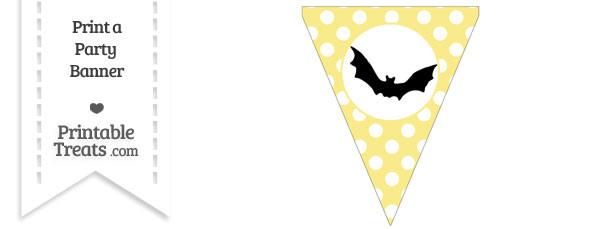 Pastel Yellow Polka Dot Pennant Flag with Bat Download