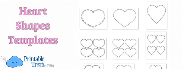 It's just a graphic of Printable Heart Shapes for large