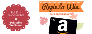 Printable Treats 2014 Fall Sweepstakes for Pinterest