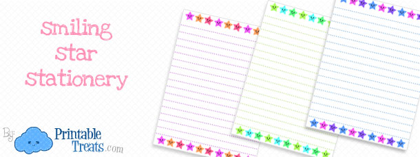 smiling star stationery