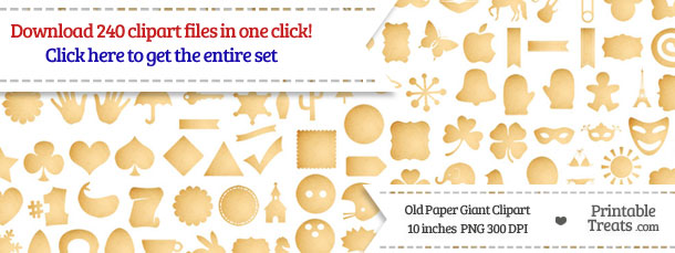 240 Old Paper Giant Clipart Download from PrintableTreats.com