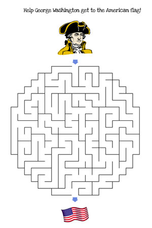 4th of july maze medium