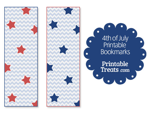 4th of july printable bookmarks