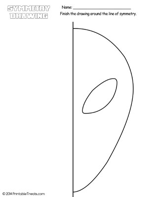 alien symmetry drawing worksheet