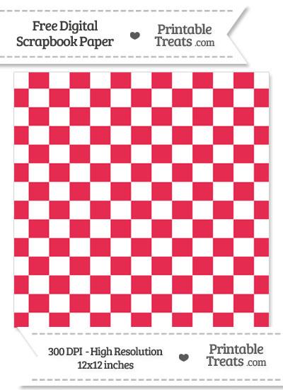 Amaranth Pink Checkered Pattern Digital Paper from PrintableTreats.com
