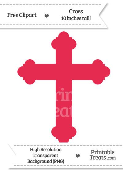 Amaranth Pink Cross Clipart from PrintableTreats.com