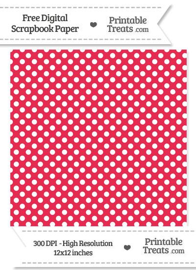 Amaranth Pink Polka Dot Digital Paper from PrintableTreats.com