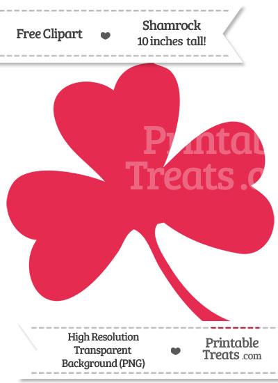 Amaranth Pink Shamrock Clipart from PrintableTreats.com