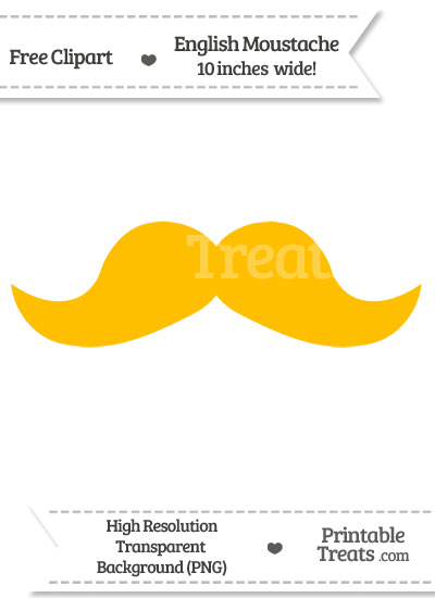 Amber English Mustache Clipart from PrintableTreats.com