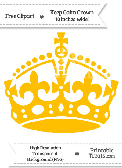 Amber Keep Calm Crown Clipart from PrintableTreats.com