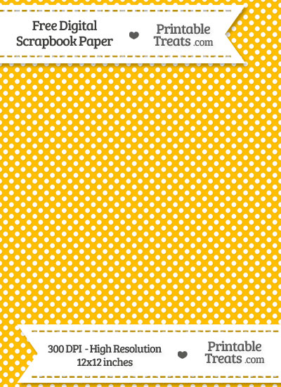 Amber Raised Mini Polka Dots Digital Paper from PrintableTreats.com