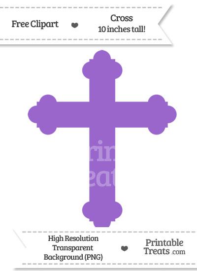 Amethyst Cross Clipart from PrintableTreats.com
